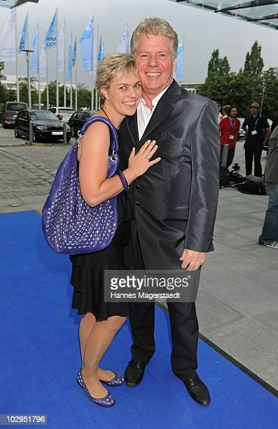 Thomas Stein and his wife Cornelia attend the Bavarian Sport Award 2010 at the International Congress Center Munich on July 17 2010 in Munich Germany