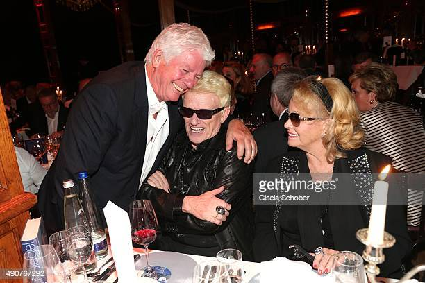Thomas Stein Heino and his wife Hannelore during Ralph Siegel's 70th birthday party at Schuhbeck's Teatro on September 30 2015 in Munich Germany