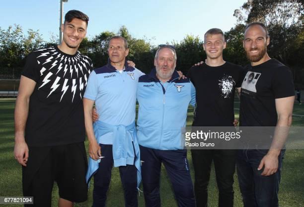 Thomas Strakosha Adalberto Grigioni Joop Lensen Marius Adamonis and Ivan Vargic of SS Lazio pose during the SS Lazio's goalkeepers day on May 3 2017...