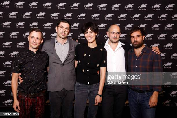 Thomas Suire Fabien Georgeart Clotilde Hesme Jean Des Forets and Gregory Montel attend 32nd Namur International FrenchLanguage Film on October 6 2017...