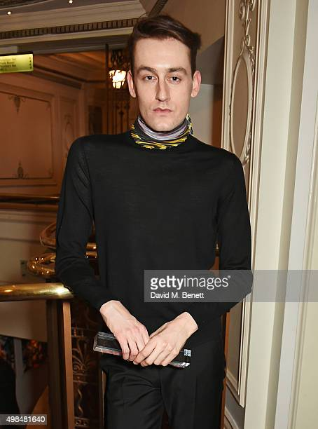 Thomas Tait winner of the Emerging Womenswear Designer Award attends the British Fashion Awards in partnership with Swarovski at the London Coliseum...