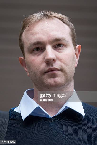 Thomas 'Tom' Hayes a former trader at banks including UBS Group AG and Citigroup Inc leaves Southwark Crown Court following the first day of his...