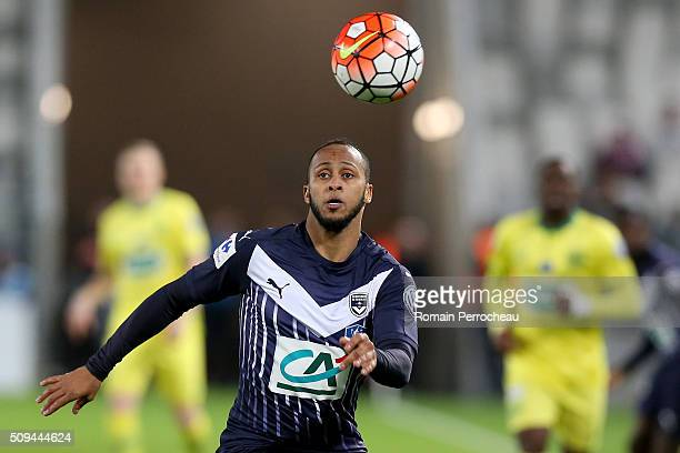 Thomas Toure for FC Girondins de Bordeaux in action during the French Cup match between FC Girondins de Bordeaux and FC Nantes at Stade Matmut...
