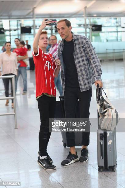 Thomas Tuchel arrives at the airport on July 16 2017 in Munich Germany