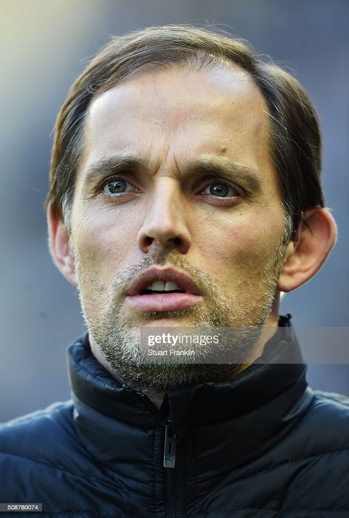 <a gi-track='captionPersonalityLinkClicked' href=/galleries/search?phrase=Thomas+Tuchel&family=editorial&specificpeople=5927236 ng-click='$event.stopPropagation()'>Thomas Tuchel</a>, head coach of Dortmund ponders during the Bundesliga match bewteen Hertha BSC and Borussia Dortmund at Olympiastadion on February 6, 2016 in Berlin, Germany.