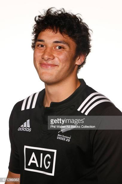 Thomas Umaga Jensen poses during the New Zealand U20 Headshots Session at Novotel Auckland Airport on April 22 2017 in Auckland New Zealand