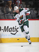 Thomas Vanek of the Minnesota Wild skates prior to the game against the Colorado Avalanche at the Pepsi Center on October 11 2014 in Denver Colorado...