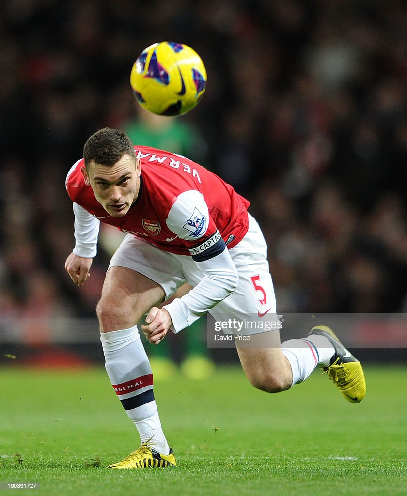 Thomas Vermaelen of Arsenal during the Barclays Premier League match between Arsenal and Liverpool at Emirates Stadium on January 30, 2013 in London, England.