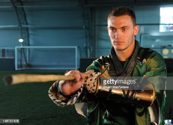 Thomas Vermaelen of Arsenal FC wears a Chinese Shaolin KunGFu Warrior for a viral to promote the Club's pre season tour on July 13 2012 in London...