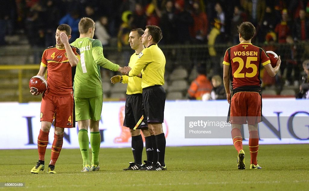 Thomas Vermaelen of Belgium pictured during the international friendly match before the World Cup in Brasil between Belgium and Japan on November 19, 2013 in Brussels, Belgium