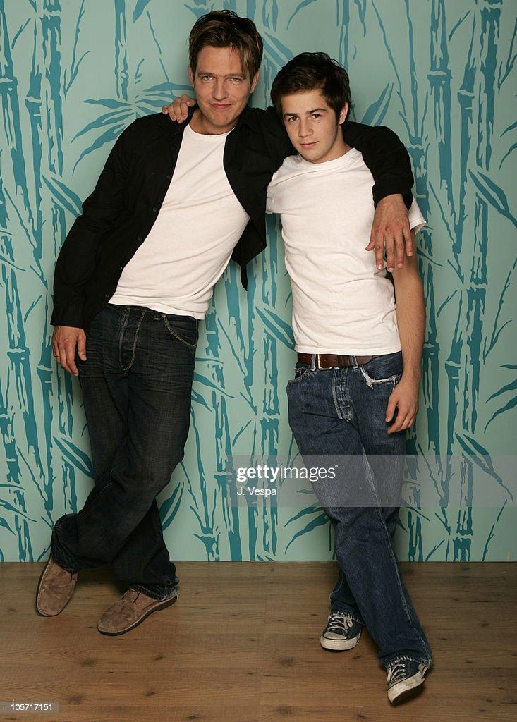 Thomas Vinterberg director and Michael Angarano during 2005 Toronto Film Festival 'Dear Wendy' Portraits at HP Portrait Studio in Toronto Canada