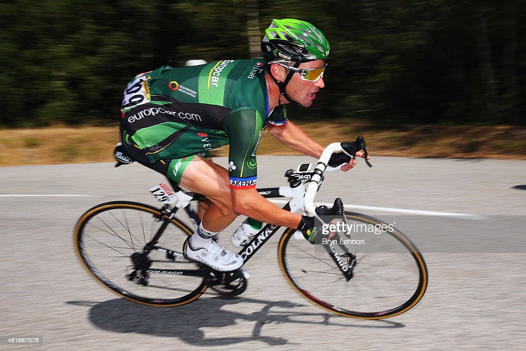 Thomas Voeckler of France and Team Europcar in action during Stage Eighteen of the 2015 Tour de France a 1865km stage between Gap and...