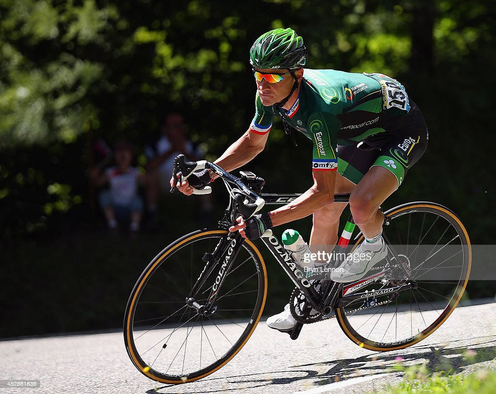 Thomas Voeckler of France and Team Europcar in action during the seventeenth stage of the 2014 Tour de France a 125km stage between SaintGaudens and...