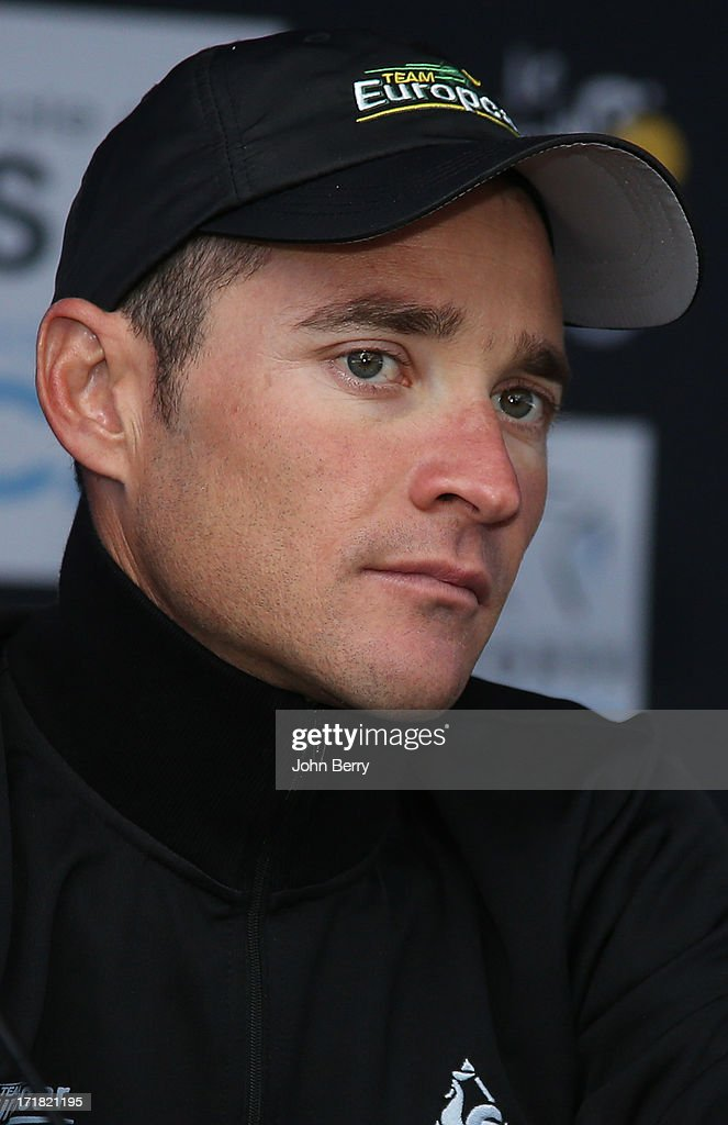 Thomas Voeckler of France and Team Europcar poses during a press day on the eve of the start of the Tour de France 2013 on June 28 2013 in...