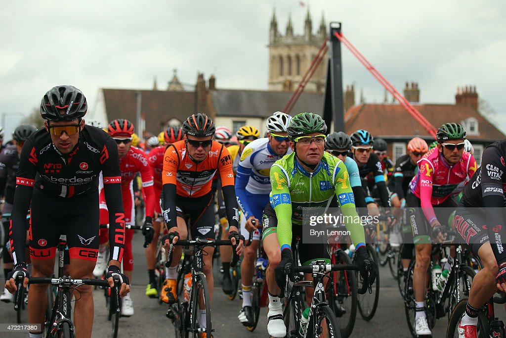 Thomas Voeckler of France and Team Europcar rides in the peloton at the start of stage 2 of the Tour de Yorkshire from Selby to York on May 2 2015 in...