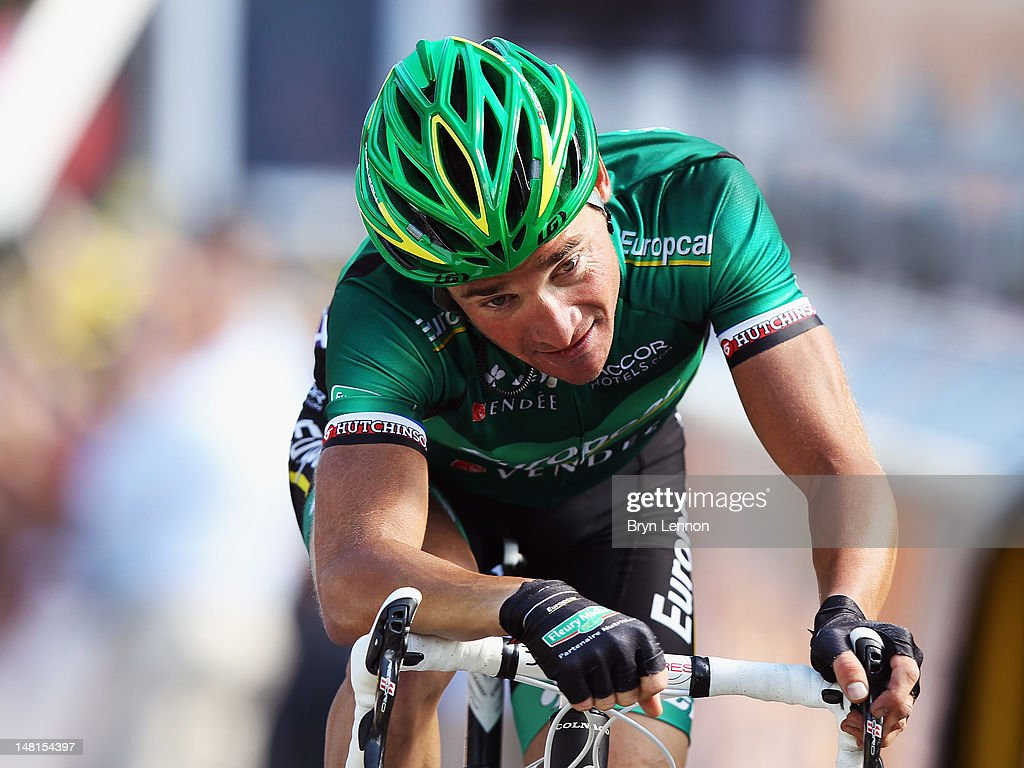 Thomas Voeckler of France and Team Europcar won stage ten of the 2012 Tour de France from Macon to BellegardesurValserine on July 11 2012 in...