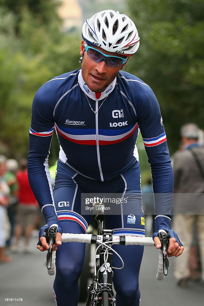 Thomas Voeckler of France in action during training on day five of the UCI Road World Championships on September 26 2013 in Florence Italy