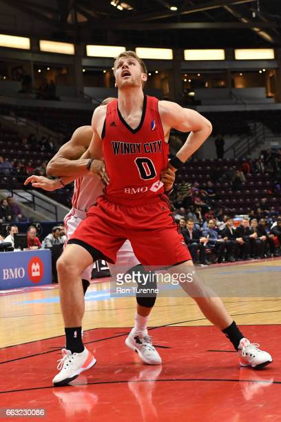 Thomas Walkup of the Windy City Bulls waits for a rebound against the Raptors 905 on March 30 2017 in Mississauga Ontario Canada NOTE TO USER User...