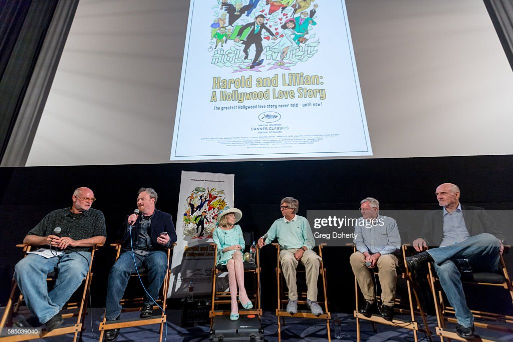 Thomas Walsh Daniel Raim Lillian Michelson Rick Carter panelist and Jim Bissell during a panel discussion following the Premiere Of 'Harold And...
