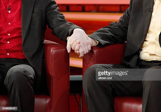 Thomas Welter mit Ingmar Zöller seit 2002 verheiratet in der TalkShow 'GÜNTHER_JAUCH' in Berlin zum Thema Kinder Steuer Ehe gleiches Recht für...
