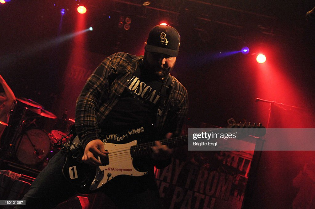 Thomas Williams of Stray from the Path performs on stage at KOKO on March 14, 2014 in London, United Kingdom.