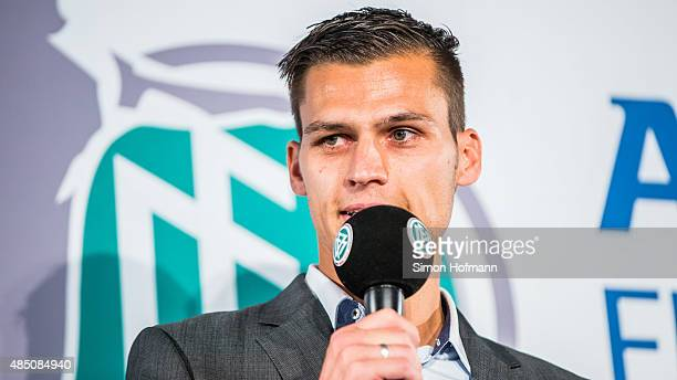 Thomas Woerle head coach of Bayern Muenchen attends the Allianz Women's Bundesliga season opening press conference at DFB Headquarters on August 24...