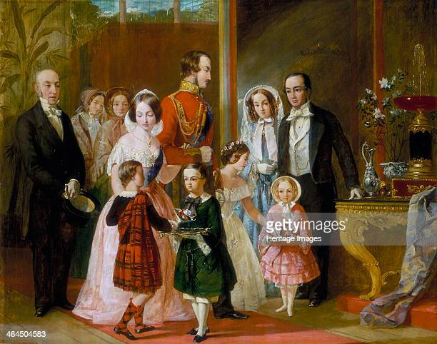 'Thomas Younghusband and his Family Meet Queen Victoria and her Family at Crystal Palace' c1854 Thomas Younghusband left moved a medieval crypt from...