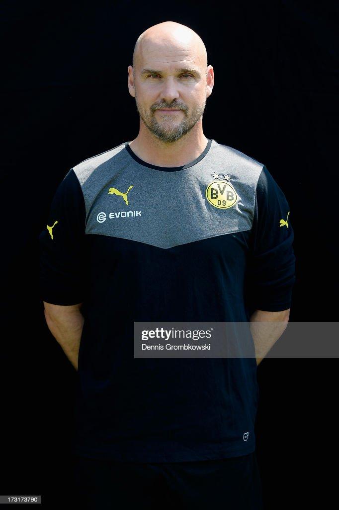 Thomas Zetzmann poses during the Borussia Dortmund Team Presentation at Brackel Training Ground on July 9, 2013 in Dortmund, Germany.