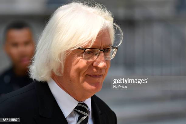 ThomasMesereau attorney for US Actor Bill Cosby departs a pretrial hearing at Montgomery County Courthouse in Norristown on August 22 2017