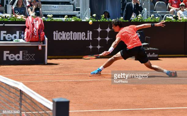 Thomaz Bellucci in action during his match against David Goffin Internazionali BNL d'Italia 2017 on May 15 2017 in Rome Italy