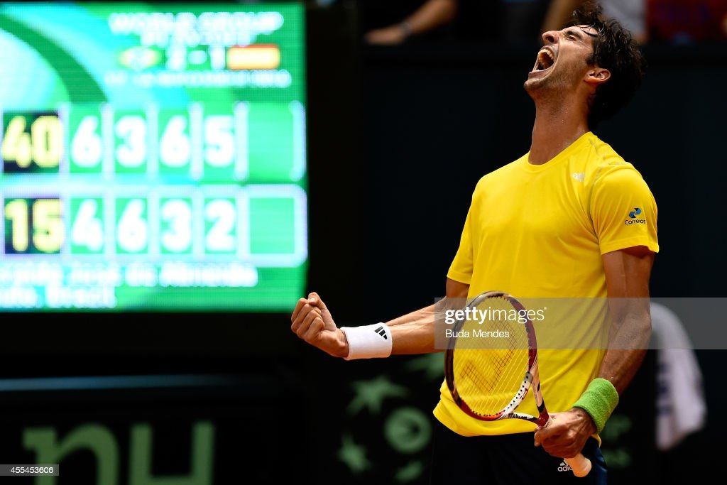 Spain v Brazil - Davis Cup World Group Play-Offs: Day 3