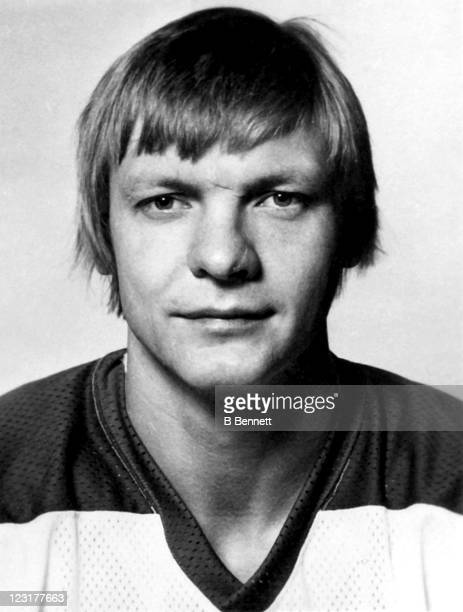 Thommie Bergman of the Winnipeg Jets poses for a portrait in September 1976 in Winnipeg Manitoba Canada