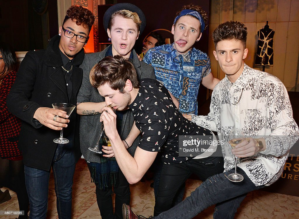 JJ Thompson, Josh Ware, Joe 'Connor' Conaboy, Jay Scott and Matt Cahill of Kingsland Road attend a party to celebrate 25 years of Magnum at Home House on March 26, 2014 in London, England.