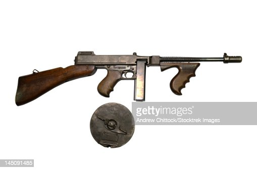 Thompson Model 1928 Submachine Gun With Drum Magazine ...