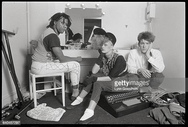 Thompson Twins in Their Dressing Room