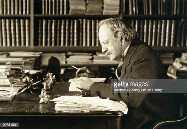 Thomson discoverer of the electron photographed writing at his desk After graduating from Trinity College Cambridge Thomson turned the Cavendish...