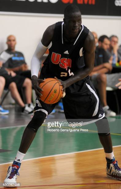 Thon Maker of team USA in action during adidas Eurocamp day two at La Ghirada sports center on June 8 2014 in Treviso Italy
