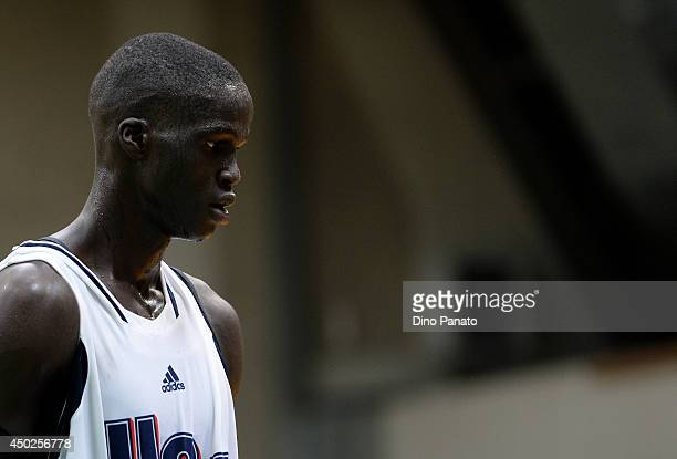 Thon Maker of team USA looks on during adidas Eurocamp day one at La Ghirada sports center on June 7 2014 in Treviso Italy