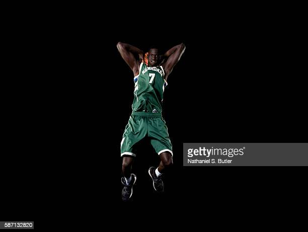 Thon Maker of the Milwauee Bucks poses for a portrait during the 2016 NBA rookie photo shoot on August 7 2016 at the Madison Square Garden Training...