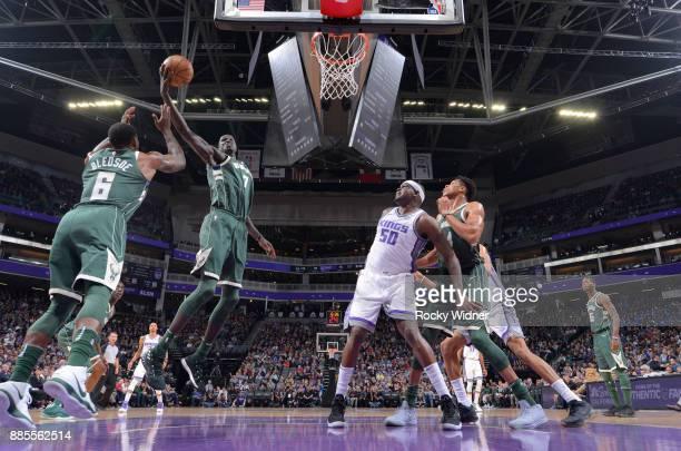 Thon Maker of the Milwaukee Bucks rebounds against the Sacramento Kings on November 28 2017 at Golden 1 Center in Sacramento California NOTE TO USER...
