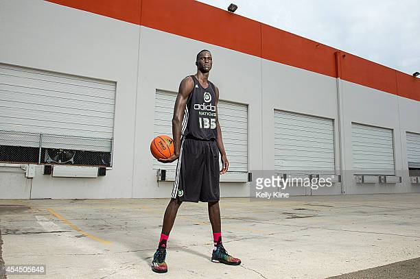 Thon Maker poses for a portrait during the 2014 adidas Nations on August 2 2014 at Next Level Sports Complex in Garden Grove California