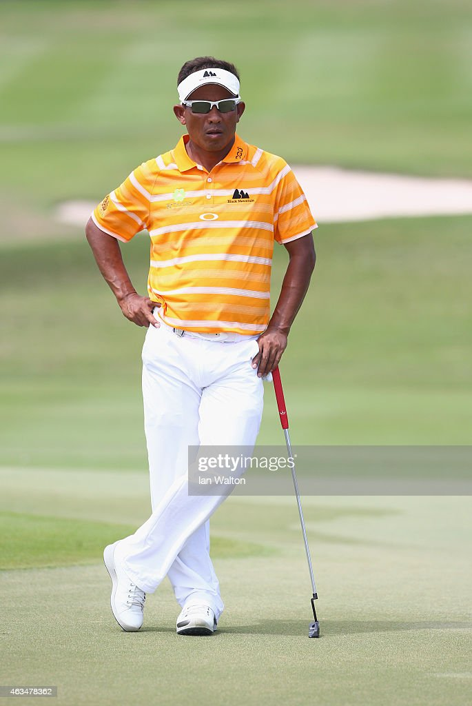 Thongchai Jaidee of Thailand during the final round of the 2015 True Thailand Classic at Black Mountain Golf Club on February 15 2015 in Hua Hin...