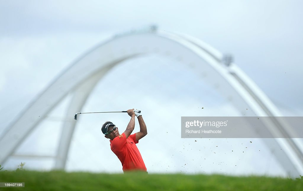 Thongchai Jaidee of Thailand in action during the final round of the Volvo Champions at Durban Country Club on January 13, 2013 in Durban, South Africa.