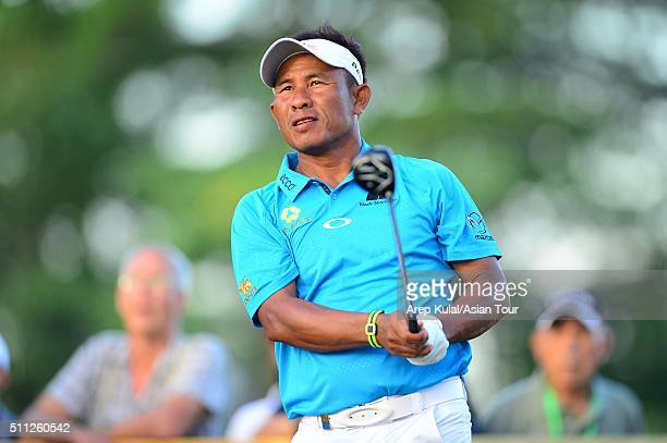 Thongchai Jaidee of Thailand pictured during round two of the Maybank Championship Malaysia at Royal Selangor Golf Club on February 19 2016 in Kuala...