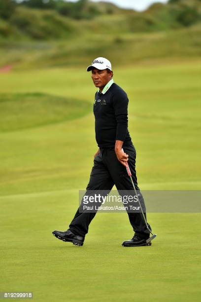 Thongchai Jaidee of Thailand pictured on hole 2 during the first round of the 146th Open Championship at Royal Birkdale on July 20 2017 in Southport...