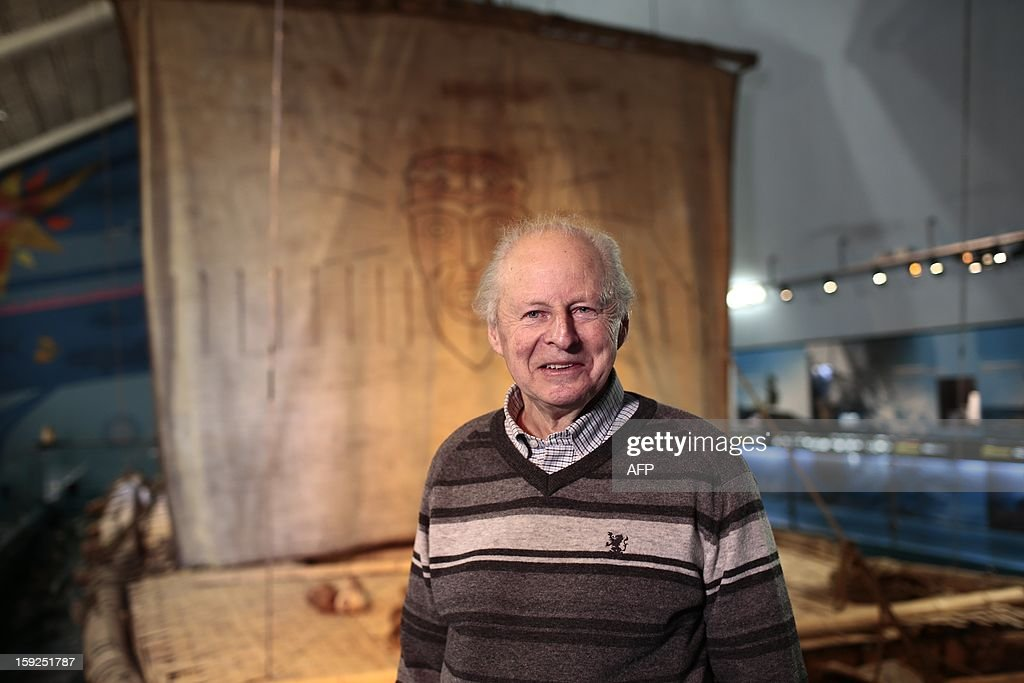 Thor Heyerdahl jr poses at the Kon-Tiki museum in Oslo on January 10, 2013 after the Norwegian movie 'Kon-Tiki' has won Oscar Academy Award nomination. Norwegian feature film about the expedition of famed explorer Thor Heyerdahl, Kon-Tiki, is now one of five candidates for the Academy's Best Foreign Language Film. AFP PHOTO/ Stian Lysberg Solum / Scanpix