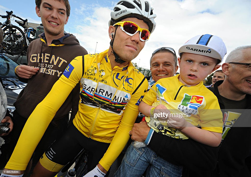 <a gi-track='captionPersonalityLinkClicked' href=/galleries/search?phrase=Thor+Hushovd&family=editorial&specificpeople=534471 ng-click='$event.stopPropagation()'>Thor Hushovd</a> of Team Garmin - Cervelo during Stage 7 of the Tour de France on July 8, 2011, Le Mans to Chateauroux, France.