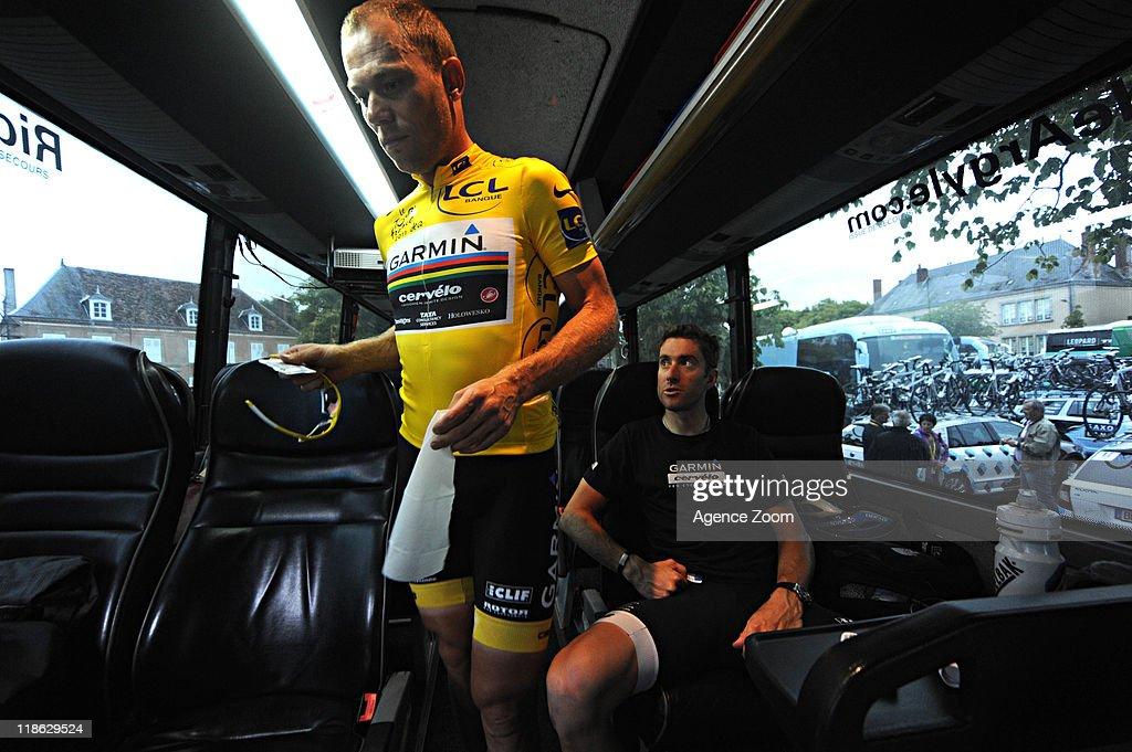 Thor Hushovd of Team Garmin - Cervelo during Stage 8 of the Tour de France on July 9, 2011 Aigurande to Super-Besse Sancy, France.