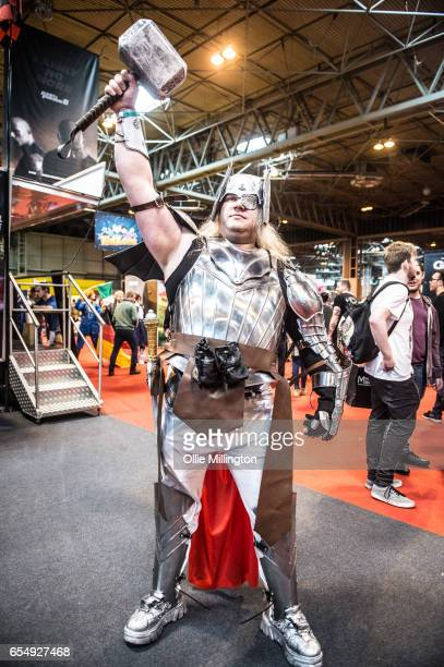 Thor seen during the MCM Birmingham Comic Con at NEC Arena on March 18 2017 in Birmingham England