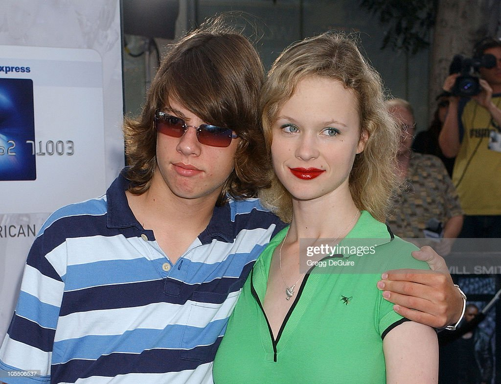 <a gi-track='captionPersonalityLinkClicked' href=/galleries/search?phrase=Thora+Birch&family=editorial&specificpeople=202930 ng-click='$event.stopPropagation()'>Thora Birch</a> (right) and brother Bolt Birch during 'I, ROBOT' World Premiere - Arrivals at Mann Village Theatre in Westwood, California, United States.